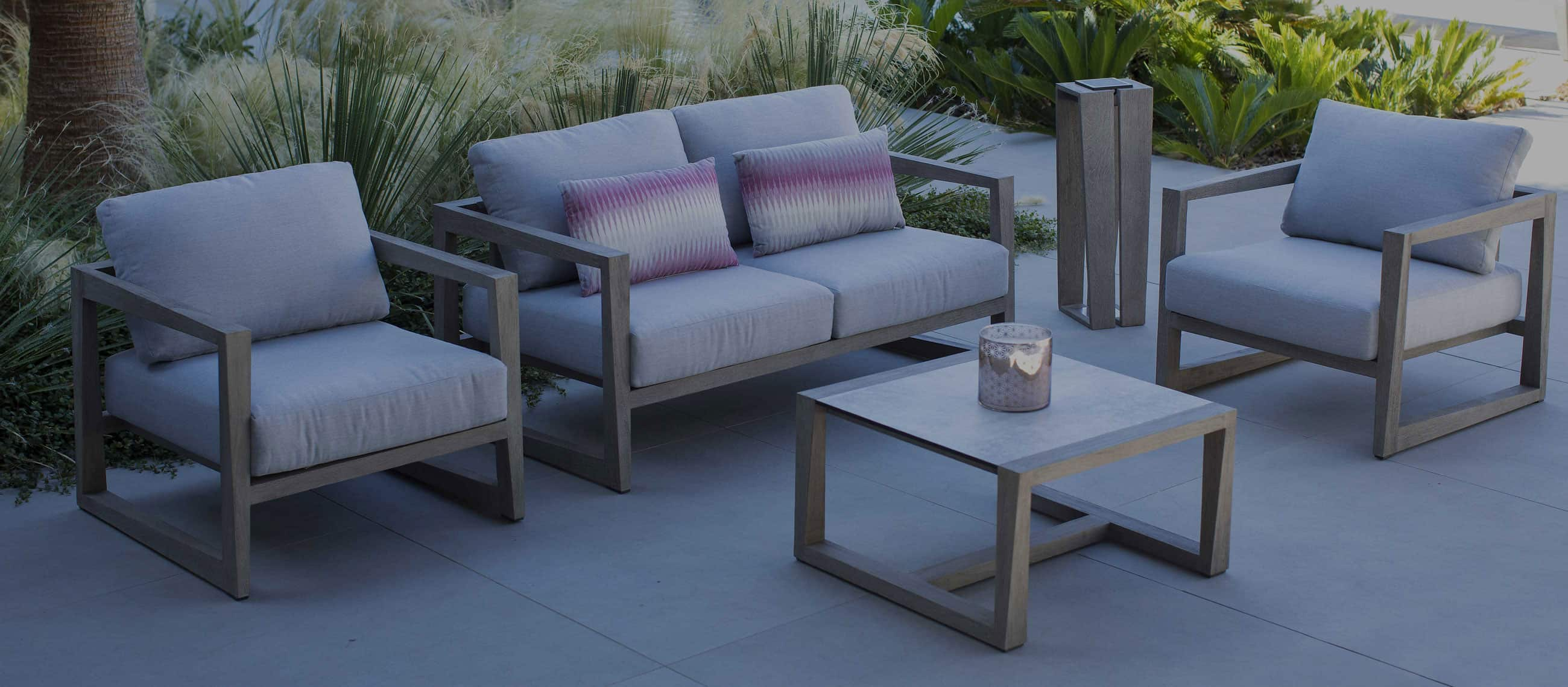 Les Jardings Outdoor Furniture Grey wooden furniture